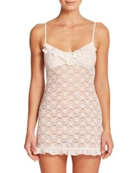 In Bloom Bustle-Back Lace Chemise - Lyst