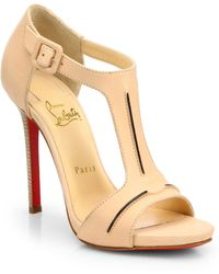 Christian Louboutin In My City Leather Tstrap Sandals - Lyst