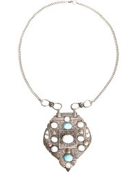 Asos Festival Shield Necklace - Lyst