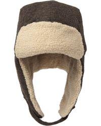 Paul Smith Faux Shearling-trimmed Woven-wool Trapper Hat - Lyst