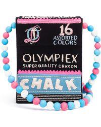 Olympia Le-Tan Chalk Box Shoulder Bag multicolor - Lyst
