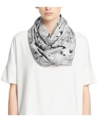 Coach Abstract Painted Oversized Square Scarf - Lyst