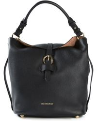 Burberry Buckle-detail Leather Hobo - Lyst
