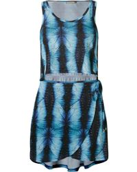 Blue Man - Abstract Print Beach Dress - Lyst