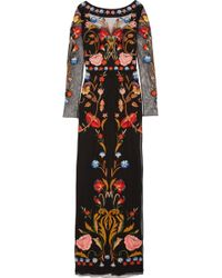 Temperley London Toledo Floral Embroidered Tulle Gown - Lyst