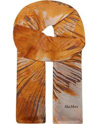 Max Mara Printed Silk Scarf - For Women - Lyst