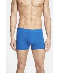 Lacoste Pique Cotton Blend Trunks - Lyst
