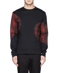 Neil Barrett Mix Check Panel Sweatshirt - Lyst