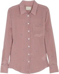Band Of Outsiders Tetrisprint Silk Shirt - Lyst