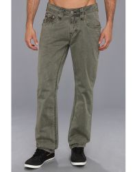 Rock Revival Olive Twill Pant - Lyst