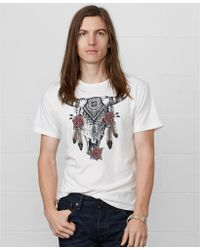 Denim & Supply Ralph Lauren Skull-print Cotton T-shirt - Lyst