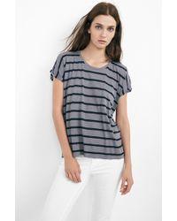 Velvet By Graham & Spencer Tiki Modal Cotton Stripe Cap Sleeve - Lyst