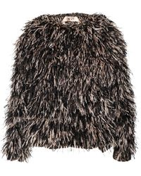 No 21 Meg Feather Embellished Knit - Lyst