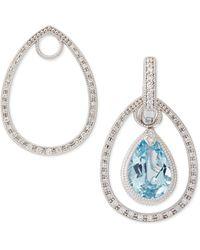Judefrances Jewelry Classic White Gold Pave Diamond Teardrop Earring Frames - Lyst