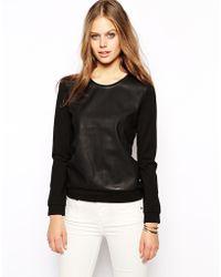 SuperTrash - Teata Sweatshirt with Pu Front - Lyst