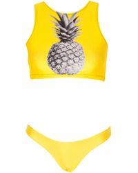 Jo De Mer Pineapple Veruschka Monikini yellow - Lyst