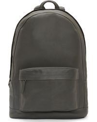 PB 0110 - Gray Matte Leather Backpack - Lyst d7fe76407c257