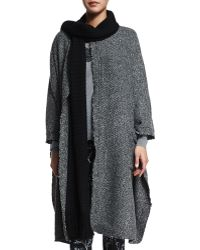 Thakoon Addition - Raw-edge Wool-blend Long Cape - Lyst