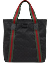 Gucci Black Canvas Tote - Lyst