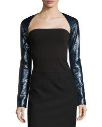 Donna Karan New York Long-Sleeved Sequin Shrug - Lyst