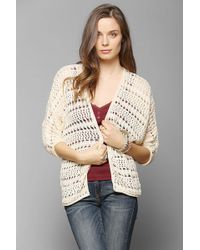 Pins And Needles - Crochet Openfront Cardigan - Lyst
