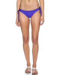 Shoshanna Blue Lace Up Bikini Bottoms - Lyst