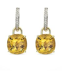 Kiki McDonough | Eternal 18K Gold Citrine Diamond Earrings | Lyst