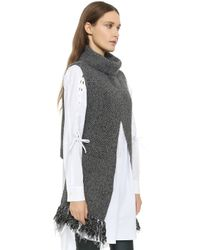 Thakoon Addition - Crossover Sleeveless Pullover - Charcoal/black - Lyst