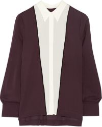A.L.C. Scott Twotone Silk Top - Lyst