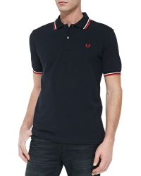 Fred Perry Twin-tipped Polo Shirt - Lyst