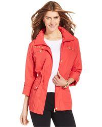 Style & Co. | Petite Zip-pocket Hooded Anorak | Lyst