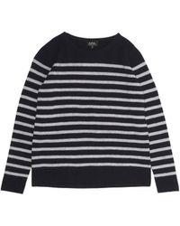 A.P.C. Wool Stripe Mariniere Sweater - Lyst