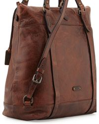Frye Josie Leather Backpack Tote Bag - Lyst
