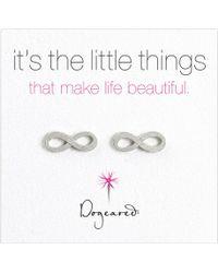 Dogeared - Sterling Silver Infinity Stud Earrings - Lyst
