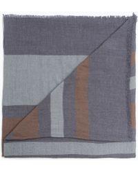 Zara Striped Marl Scarf - Lyst