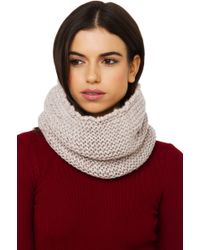 Akira Black Label - Thick Knit Infinity Snood - Oatmeal - *final Sale* - Lyst