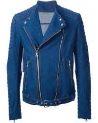 Balmain Denim Jacket - Lyst