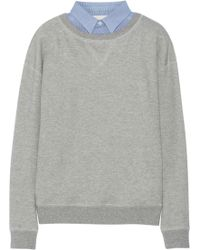 Band of Outsiders   Waffle-knit Cotton French Terry Sweatshirt   Lyst