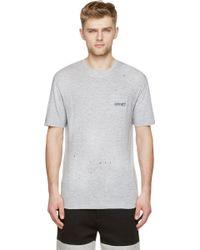 DSquared² Grey Distressed New Dan Fit T_Shirt - Lyst