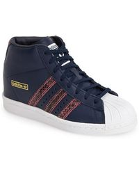 Adidas 'Superstar Up' Hidden Wedge Leather Sneaker - Lyst