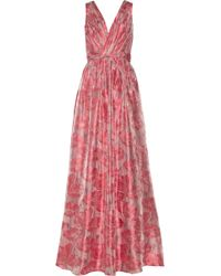 Badgley Mischka Floralpatterned Fil Coupã Gown - Lyst