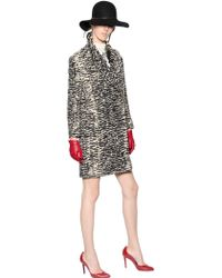 Lanvin Zebra Jacquard Cotton Blend Coat - Lyst