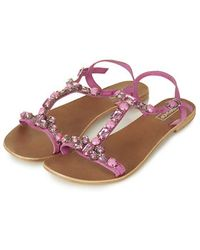 Topshop Hope Jewelled Sandals - Lyst