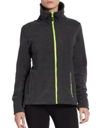 Calvin Klein Performance Funnel Collared Logo Performance Jacket - Lyst