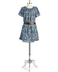 MICHAEL Michael Kors Paisley Shift Dress - Lyst