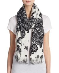 Betsey Johnson - Graphic Print Scarf - Lyst
