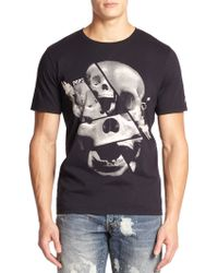 PRPS Anansi Skull-Print Cotton T-Shirt black - Lyst