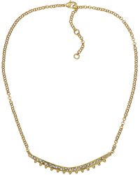 Sam Edelman Crystallized Metallic Curved Pendant Necklace - Lyst