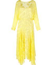 Preen By Thornton Bregazzi Satin Devore Norma Dress - Lyst