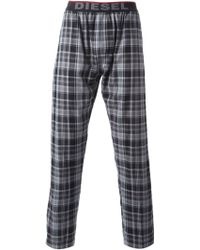 DIESEL | Check Print Trousers | Lyst
